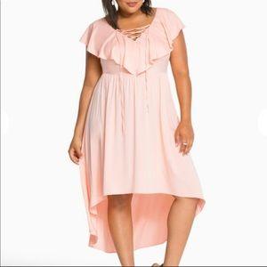 Torrid peach high low dress